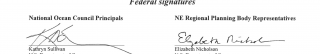 photo of signature page from the plan adoption memo