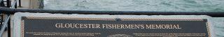 photo of the glouchester fishermen's memorial sign